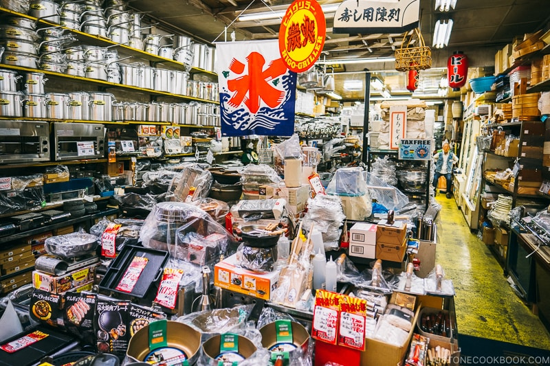 pots and steamer store - Osaka Guide: Kuromon Ichiba Market and Kitchenware Street | www.justonecookbook.com