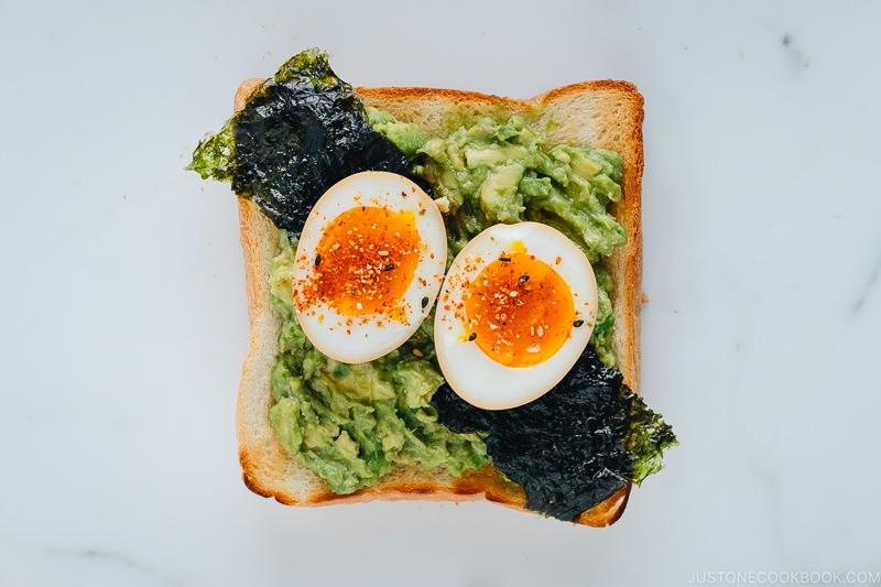 Avocado Toast with Ramen Egg | Easy Japanese Recipes at JustOneCookbook.com