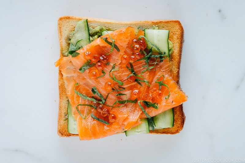 Avocado Toast with Smoked Salmon and Ikura | Easy Japanese Recipes at JustOneCookbook.com