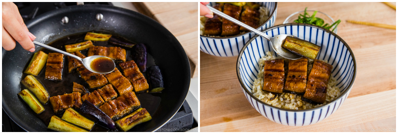 Eggplant Unagi Donburi 10