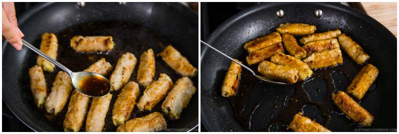 Ginger Pork Rolls with Eggplant 14