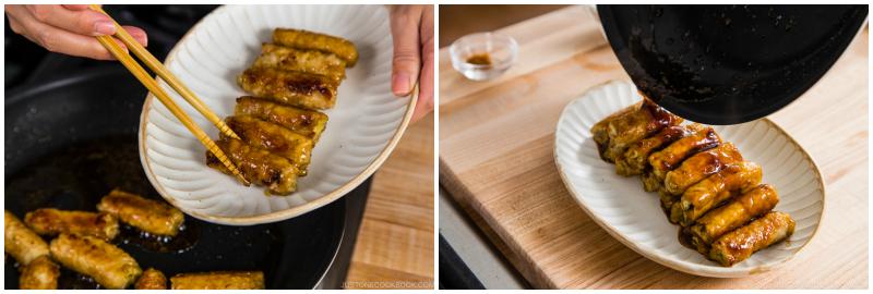 Ginger Pork Rolls with Eggplant 15