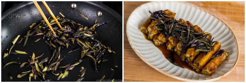Ginger Pork Rolls with Eggplant 17