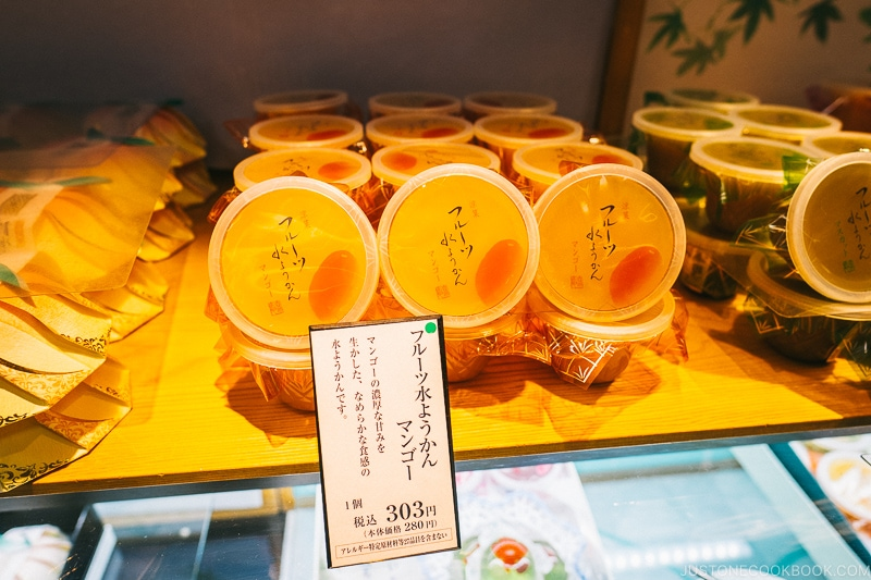 fruit mizu yokan dessert - Osaka Guide: Umeda | www.justonecookbook.com