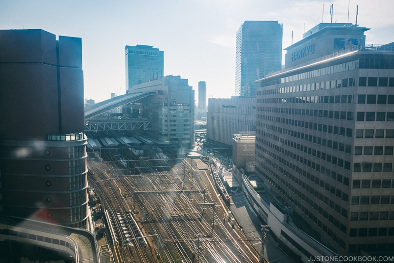 view of Osaka Station