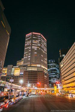 Hankyu at night - Osaka Guide: Umeda | www.justonecookbook.com