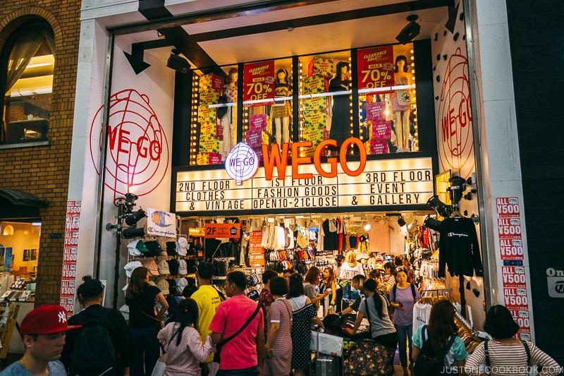 WEGO Fashion Store - Osaka Guide: Amerikamura & Shinsaibashi Shopping Street | www.justonecookbook.com