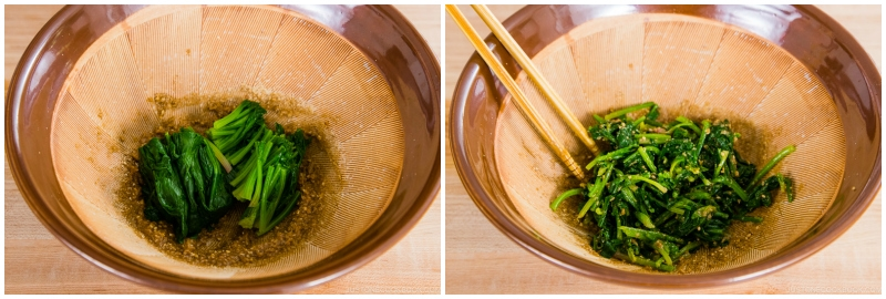 Spinach with Sesame Miso Sauce 8