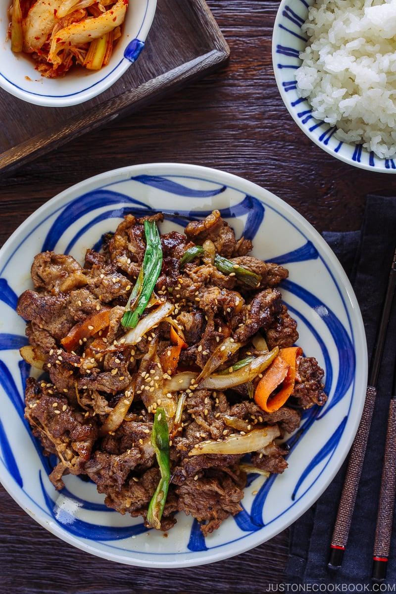 Bulgogi - 12 Summer BBQ & Potluck Recipes Your Guests Would Love | Easy Japanese Recipes at JustOneCookbook.com