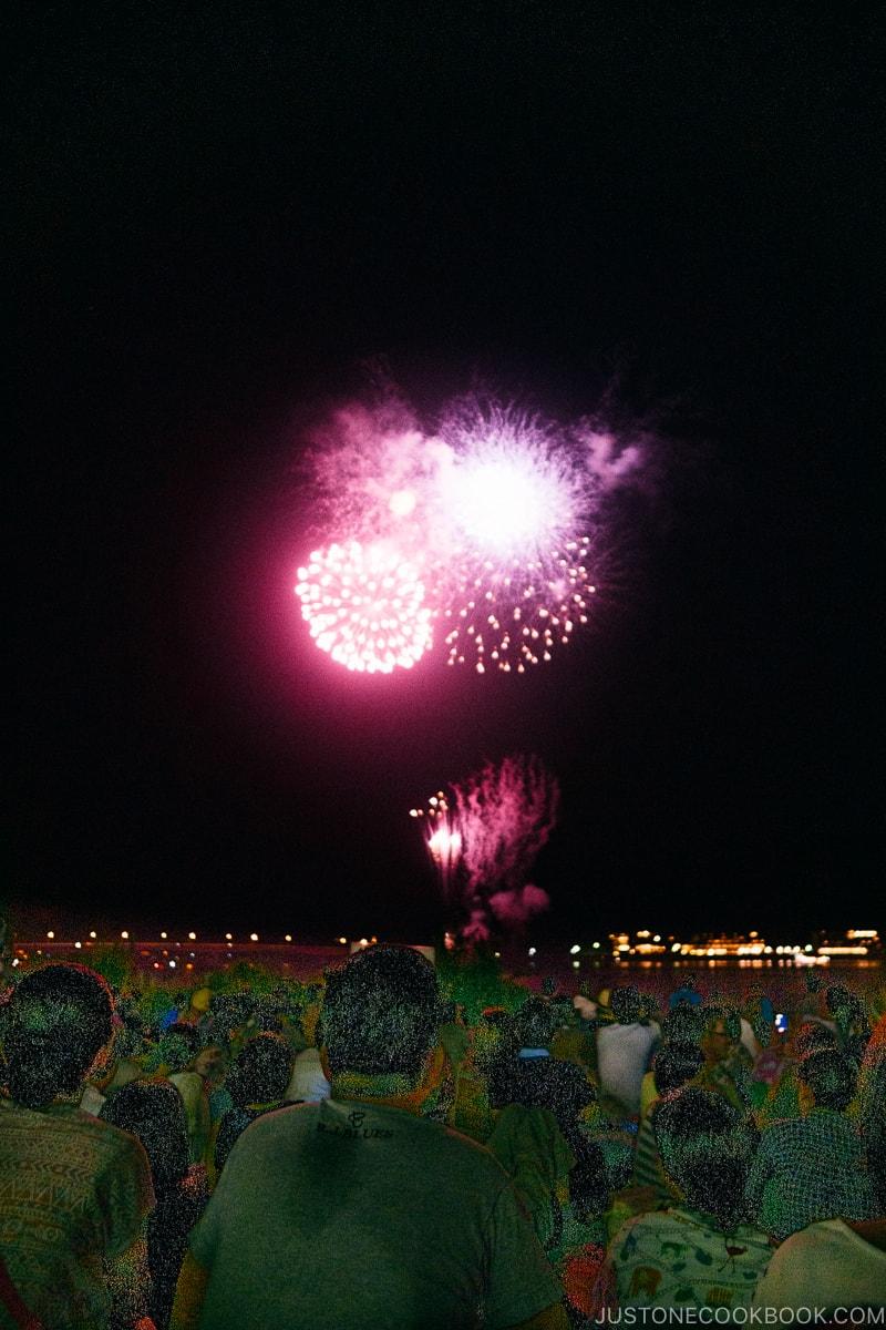Lake Kawaguchi Fireworks Festival Japan's Fireworks - Hanabi | www.justonecookbook.com