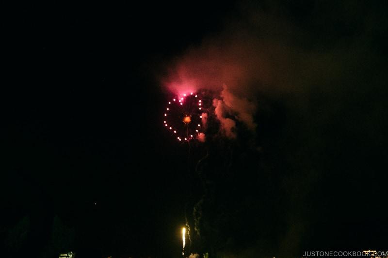 heart shape fireworks - Japan's Fireworks Hanabi | www.justonecookbook.com