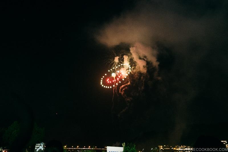 smiley face fireworks - Japan's Fireworks Hanabi | www.justonecookbook.com