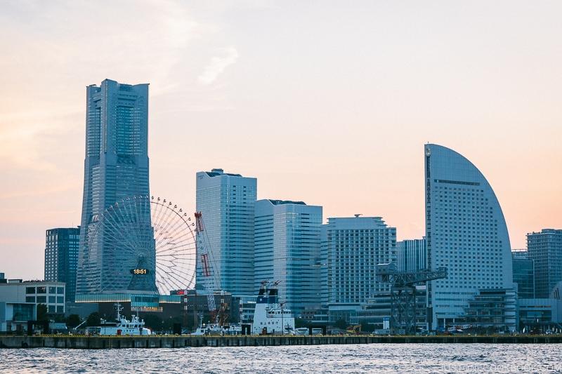 view of downtown Yokohama - Japan's Fireworks Hanabi | www.justonecookbook.com