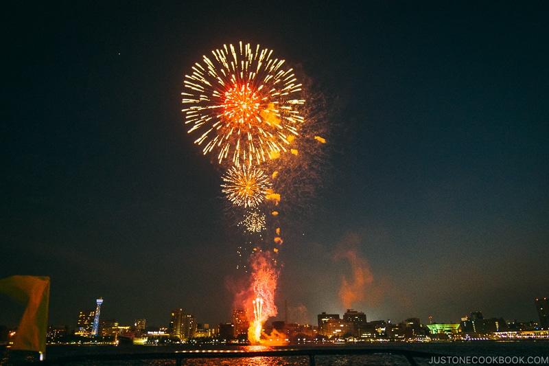 Yokohama Sparkling Twilight fireworks festival - Japan's Fireworks Hanabi | www.justonecookbook.com