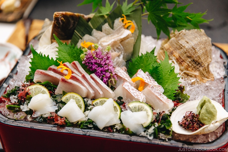 assorted sashimi kaiseki meal - Insiders' Guide for For First Time Visitors to Japan | www.justonecookbook.com