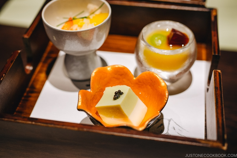 Sakizuke 先付 - Kaiseki Ryori: The Art of the Japanese Refined Multi-course Meal | www.justonecookbook.com