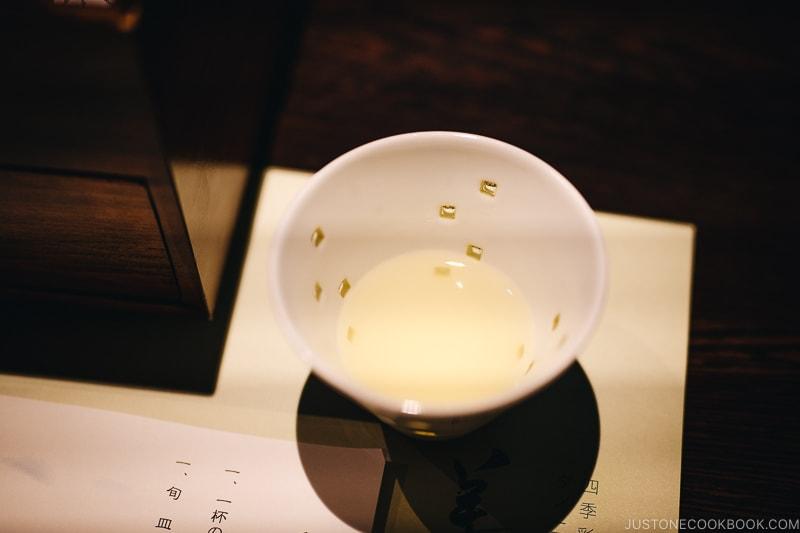 Shokuzen-shu 食前酒 ume plum wine - Kaiseki Ryori: The Art of the Japanese Refined Multi-course Meal | www.justonecookbook.com