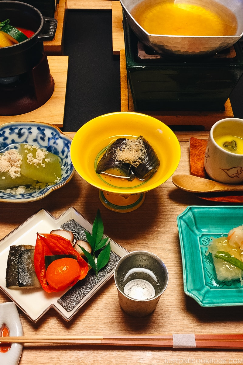 appetizers and small dishes - Kaiseki Ryori: The Art of the Japanese Refined Multi-course Meal | www.justonecookbook.com