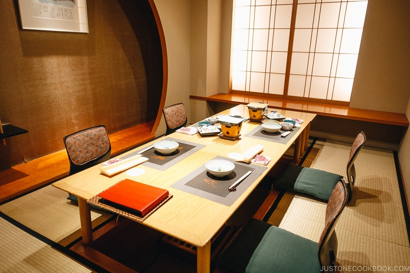Japanese dining room - Kaiseki Ryori: The Art of the Japanese Refined Multi-course Meal | www.justonecookbook.com