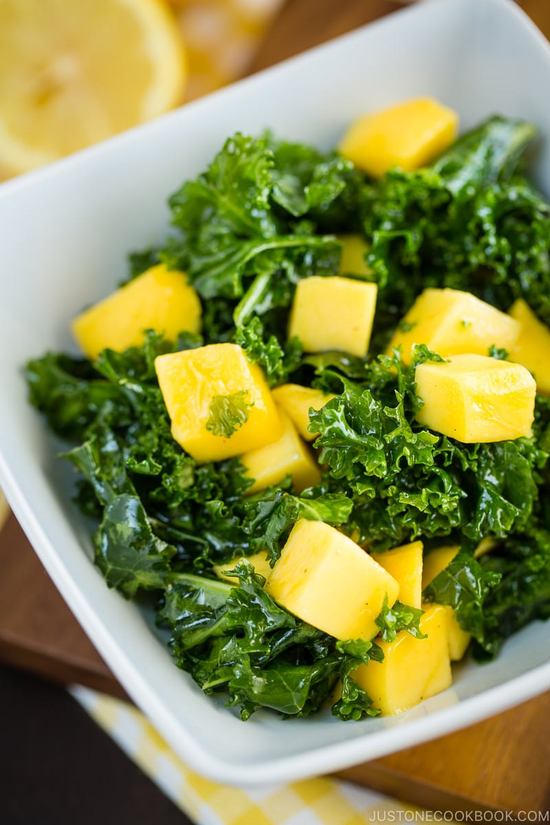 Kale Salad - 12 Summer BBQ & Potluck Recipes Your Guests Would Love | Easy Japanese Recipes at JustOneCookbook.com