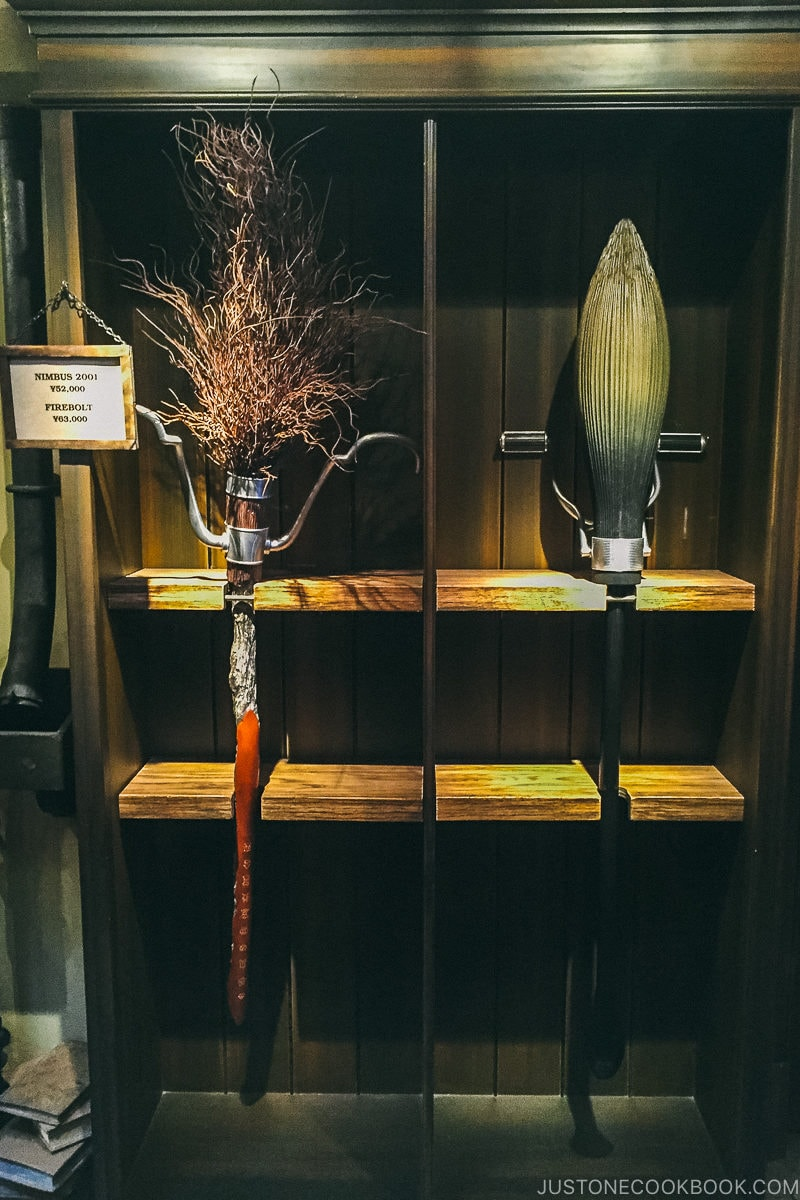 brooms used in Harry Potter movies - Osaka Guide: Universal Studios Japan | www.justonecookbook.com