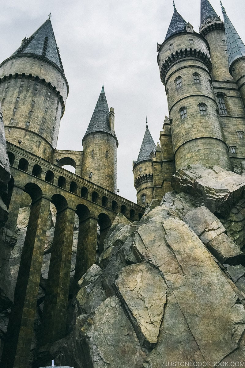 Hogwarts Castle at the Wizarding World of Harry Potter - Osaka Guide: Universal Studios Japan | www.justonecookbook.com