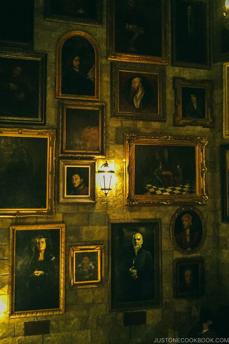 decorative paintings on the wall Harry Potter and the Forbidden Journey ride - Osaka Guide: Universal Studios Japan | www.justonecookbook.com