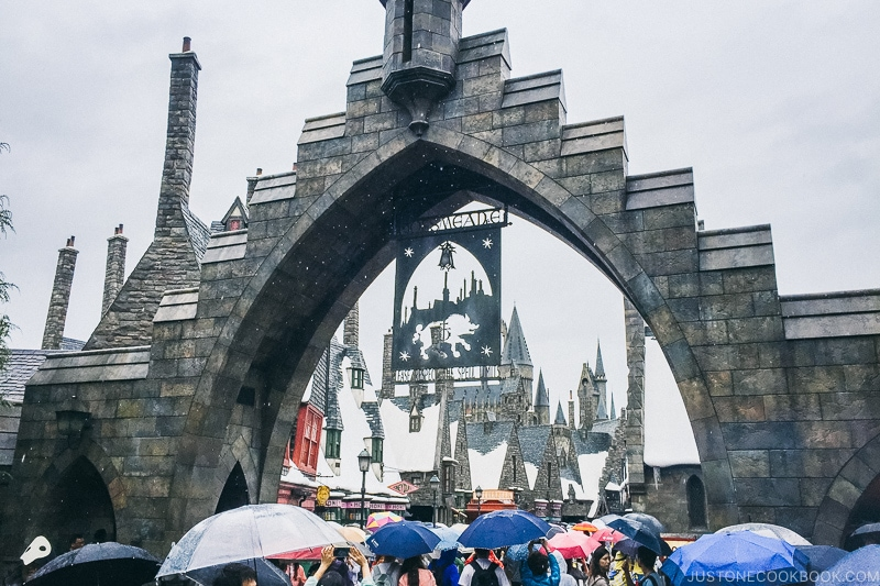 Entrance to the Wizarding World of Harry Potter - Osaka Guide: Universal Studios Japan | www.justonecookbook.com