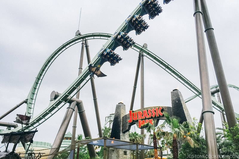 Flying Dinosaur ride - Osaka Guide: Universal Studios Japan | www.justonecookbook.com