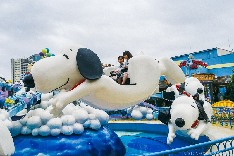 children on snoopy ride - Osaka Guide: Universal Studios Japan | www.justonecookbook.com