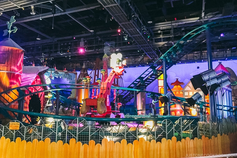 indoor roller coasters at Wonderland - Osaka Guide: Universal Studios Japan | www.justonecookbook.com
