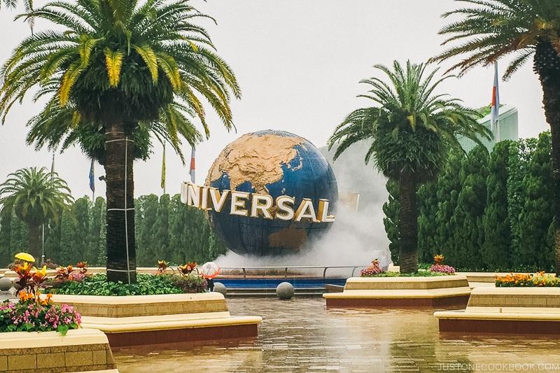 spinning Universal globe at USJ - Osaka Guide: Universal Studios Japan | www.justonecookbook.com