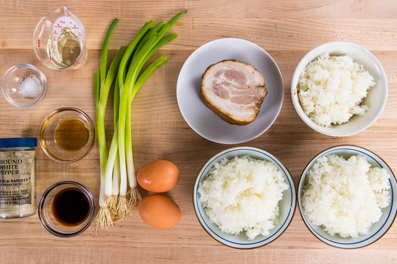 Chashu Fried Rice Ingredients