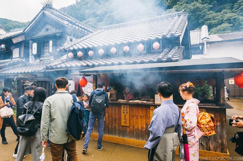 yakitori stand - Nikko Travel Guide : Edo Wonderland Nikko Edomura | www.justonecookbook.com
