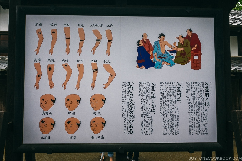 Edo period tattoo punishment - Nikko Travel Guide : Edo Wonderland Nikko Edomura | www.justonecookbook.com