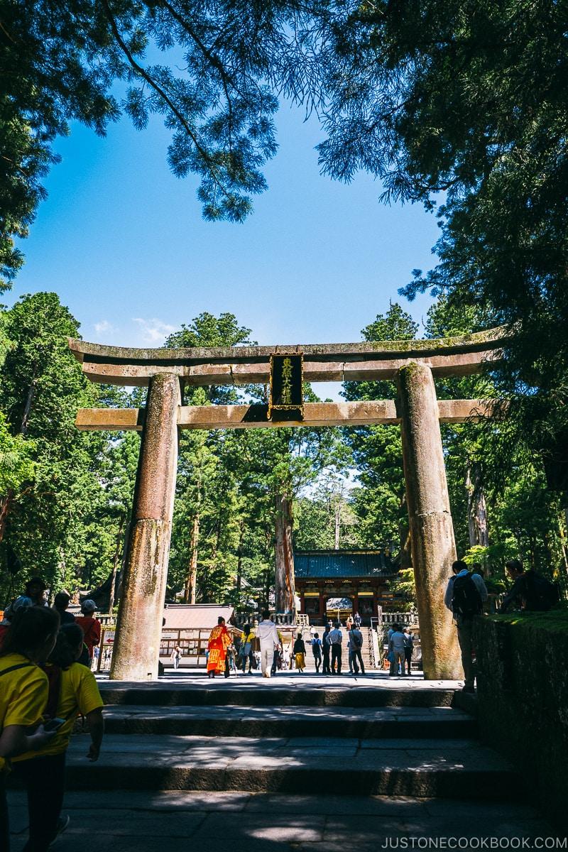 Ishidorii (Stone Torii Gate) - Nikko Travel Guide : Nikko Toshogu Shrine | www.justonecookbook.com