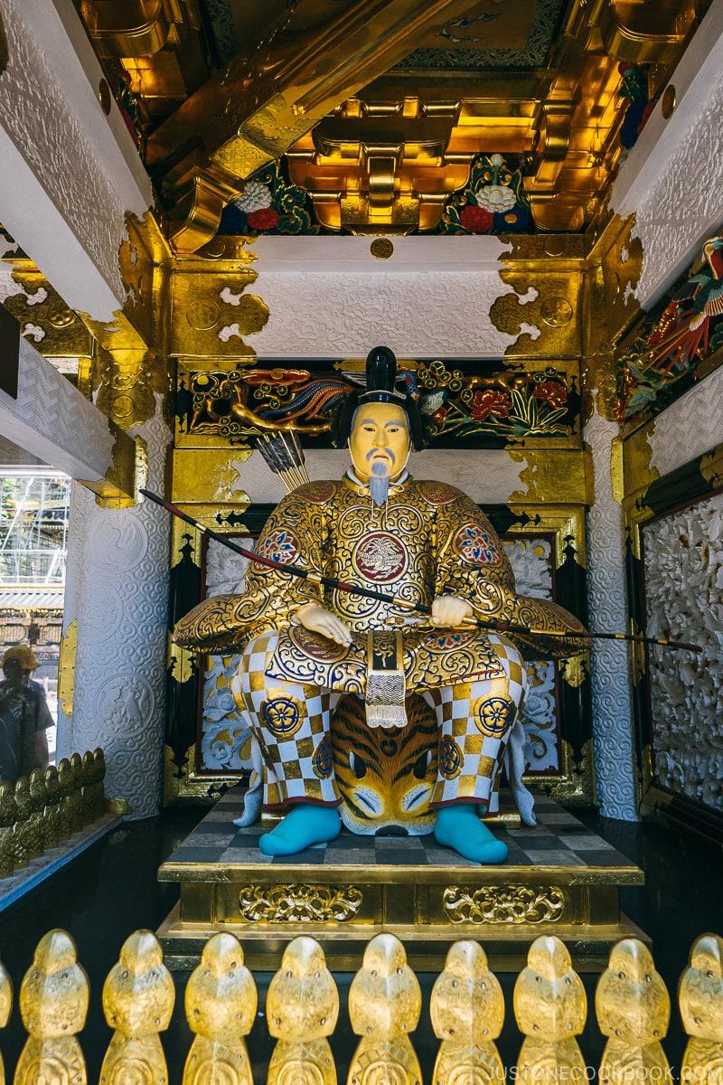 Shinto Zuijin Kami Guardian Statues inside Yomeimon Gate - Nikko Travel Guide : Nikko Toshogu Shrine | www.justonecookbook.com