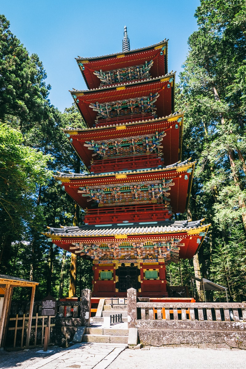Gojunoto (Five-Story Pagoda) - Nikko Travel Guide : Nikko Toshogu Shrine | www.justonecookbook.com