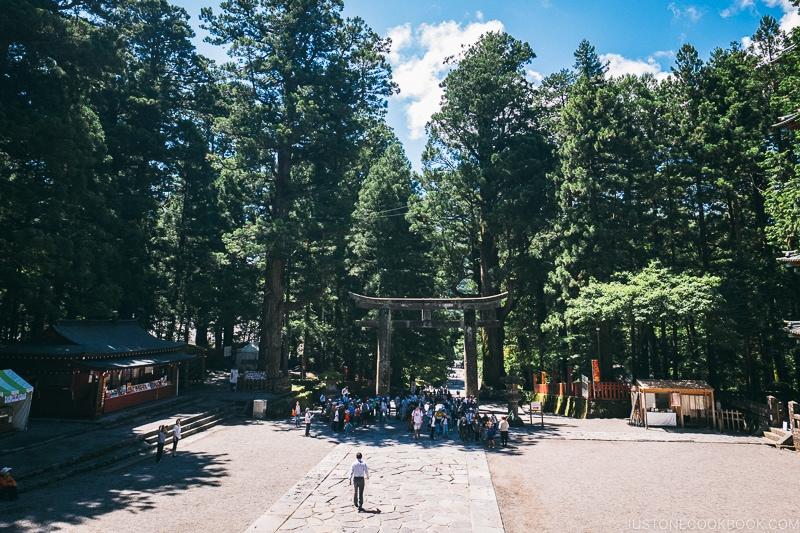 Plaza in front of the Five-Story Pagoda - Nikko Travel Guide : Nikko Toshogu Shrine | www.justonecookbook.com