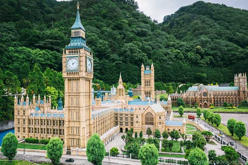 The Houses of Parliament and Elizabeth Tower - Nikko Travel Guide : Tobu World Square | www.justonecookbook.com