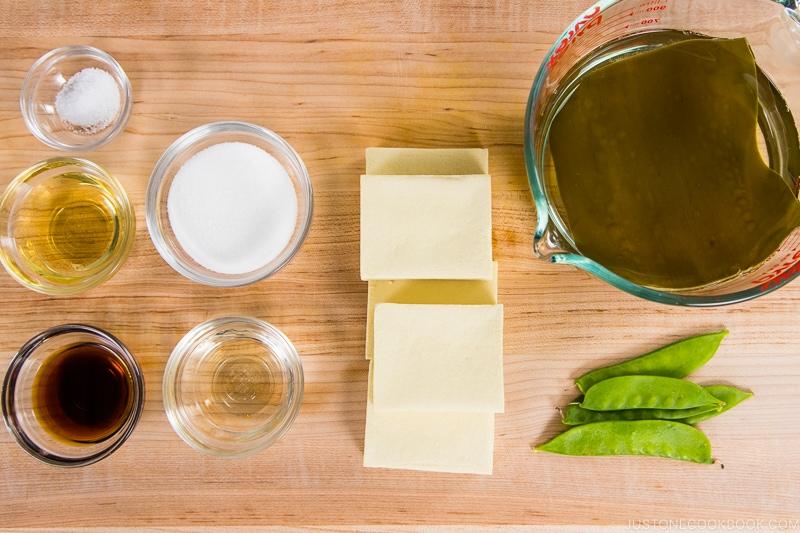 Simmered Koyadofu Ingredients