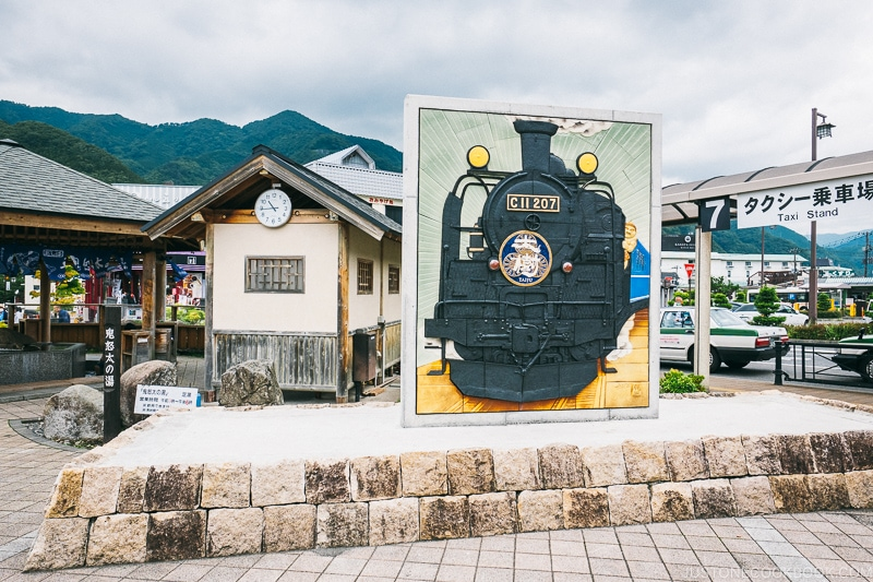 picture of steam locomotive Taiju at Kinugawa Onsen - Nikko Travel Guide : Kinugawa Onsen | www.justonecookbook.com