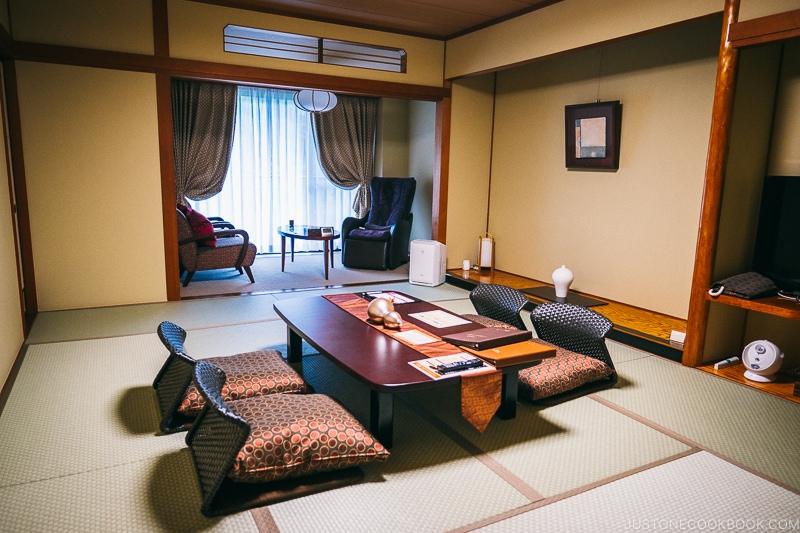 Japanese room at Asaya hotel - Nikko Travel Guide : Kinugawa Onsen | www.justonecookbook.com