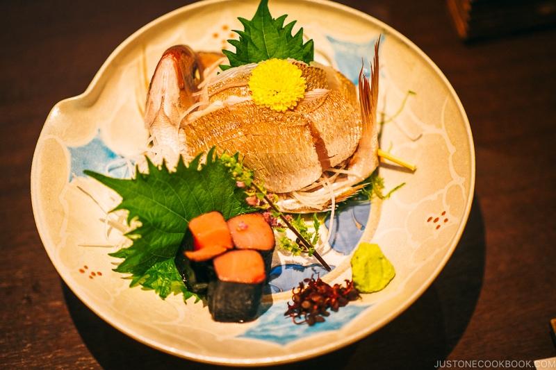 sea bream sashimi - Nikko Travel Guide : Kinugawa Onsen | www.justonecookbook.com