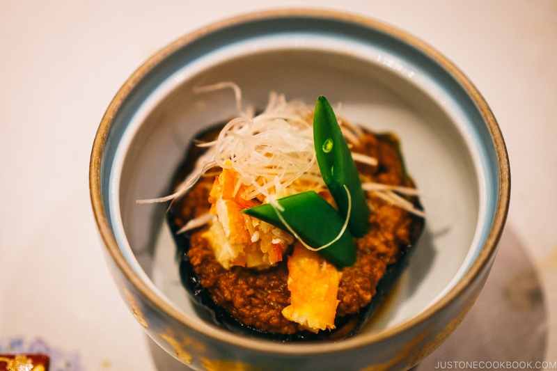 stuffed eggplant - Nikko Travel Guide : Kinugawa Onsen | www.justonecookbook.com