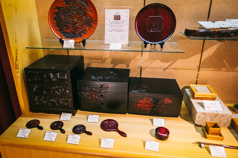 wood art craft on display for sale