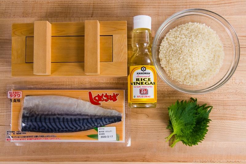Mackerel Pressed Sushi Ingredients