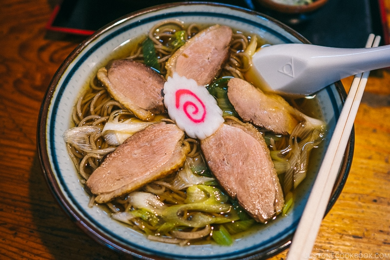 Duck soba noodles at Shinkyoan Soba Shop 神橋庵 - Places to Visit and Things to do in Nikko | www.justonecookbook.com
