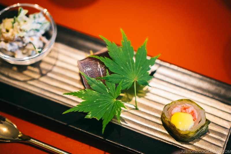 appetizers at Okunoin Hotel Tokugawa - Places to Visit and Things to do in Nikko | www.justonecookbook.com