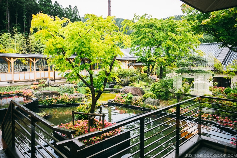 Garden at Okunoin Hotel Tokugawa - Places to Visit and Things to do in Nikko | www.justonecookbook.com